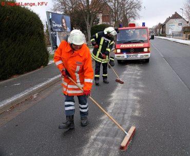 600 Meter Ölspur beschäftigten die Feuerwehr Lindau. Foto: Horst Lange