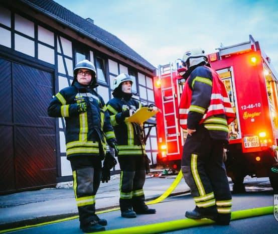 Feuerwehr Kalefeld: Übung zum 120. Geburtstag