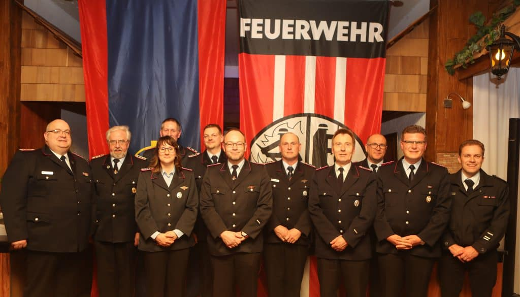 Die Geehrten und Beförderten aus der Gemeinde Kalefeld.
