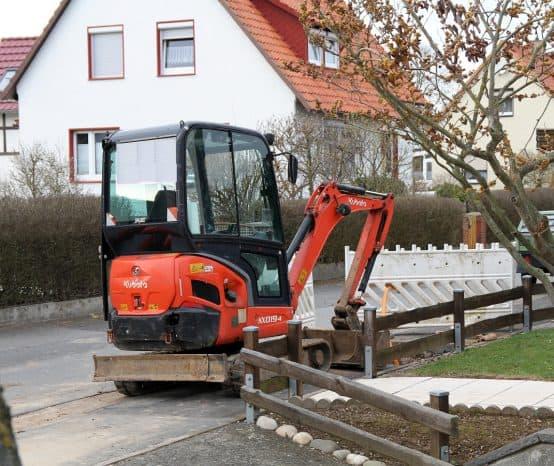 Gasleck bei Bauarbeiten in Parensen