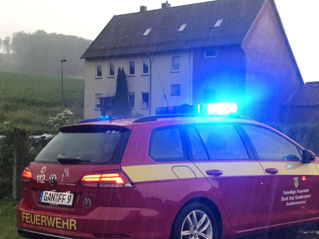 Kalter Blitzschlag in Ellierode. Foto: Mennecke