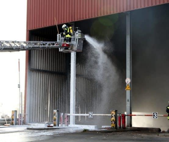 Feuer auf Deponie in Blankenhagen