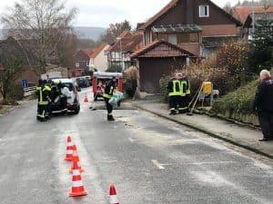 Eine Ölspur forderte die Brandschützer zu Weihnachten.